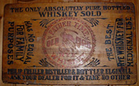 Click photo to see larger pic of Printed Wood Whiskey Advertising Lap Board