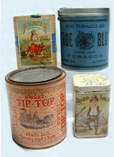 Click photo to see larger pic of Tobacco Tins