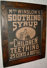 Click photo to see larger pic of Framed Paper Patent Medicine Advertising Sign