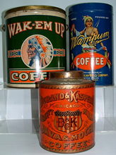 Click photo to see larger pic of Coffee Tins