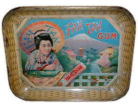 Click photo to see larger pic of Tin Gum Advertising Tray