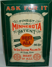 Click photo to see larger pic of Tin Flour Advertising Sign