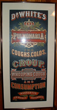Click photo to see larger pic of Paper Patent Medicine Advertising Sign