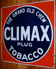 Click photo to see larger pic of Porcelain Enamel Tobacco Advertising Sign