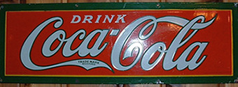 Click photo to see larger pic of Porcelain Enamel Soda Advertising Sign