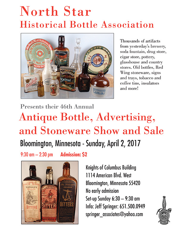 2017 Bottle, Advertising and Stoneware Show and Sale