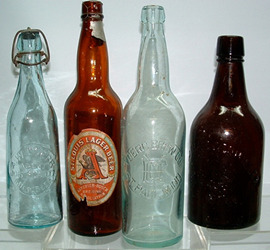 Click photo to see larger pic of Antique Beer Bottles