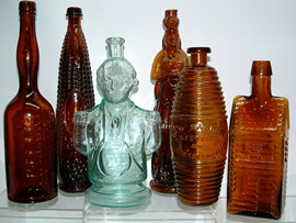 Click photo to see larger pic of Collectible Bitters Bottles