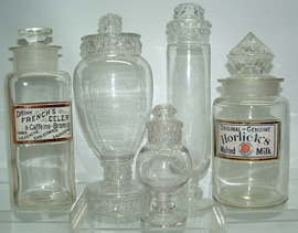 Click photo to see larger pic of Apothecary, Candy, & Soda Fountain Jars