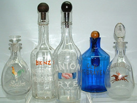 Click photo to see larger pic of Bar Bottles and Decanters