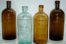 Click photo to see larger pic of U.S.A. Hospital Department Bottles