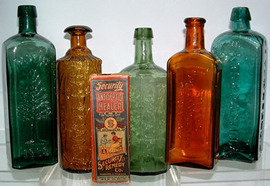 Click photo to see larger pic of Patent Medicine Bottles