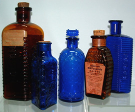 Click photo to see larger pic of Collectible Poisons Bottles