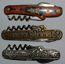 Click photo to see larger pic of Pre-Prohibition Beer Pocket Knives