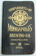 Click photo to see larger pic of Pre-Prohibition Beer Advertising Pocket Memo Book