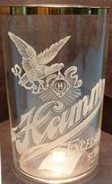 Click photo to see larger pic of Pre-Prohibition Etched Beer Glass