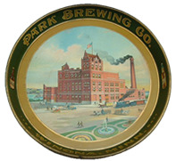 Click photo to see larger pic of Pre-Prohibition Metal Beer Tray
