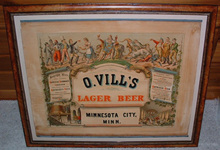 Click photo to see larger pic of Pre-Prohibition Beer Lithograph on Paper