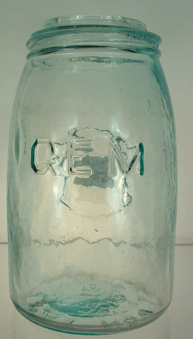 GEM HOUR GLASS MIDGET JAR