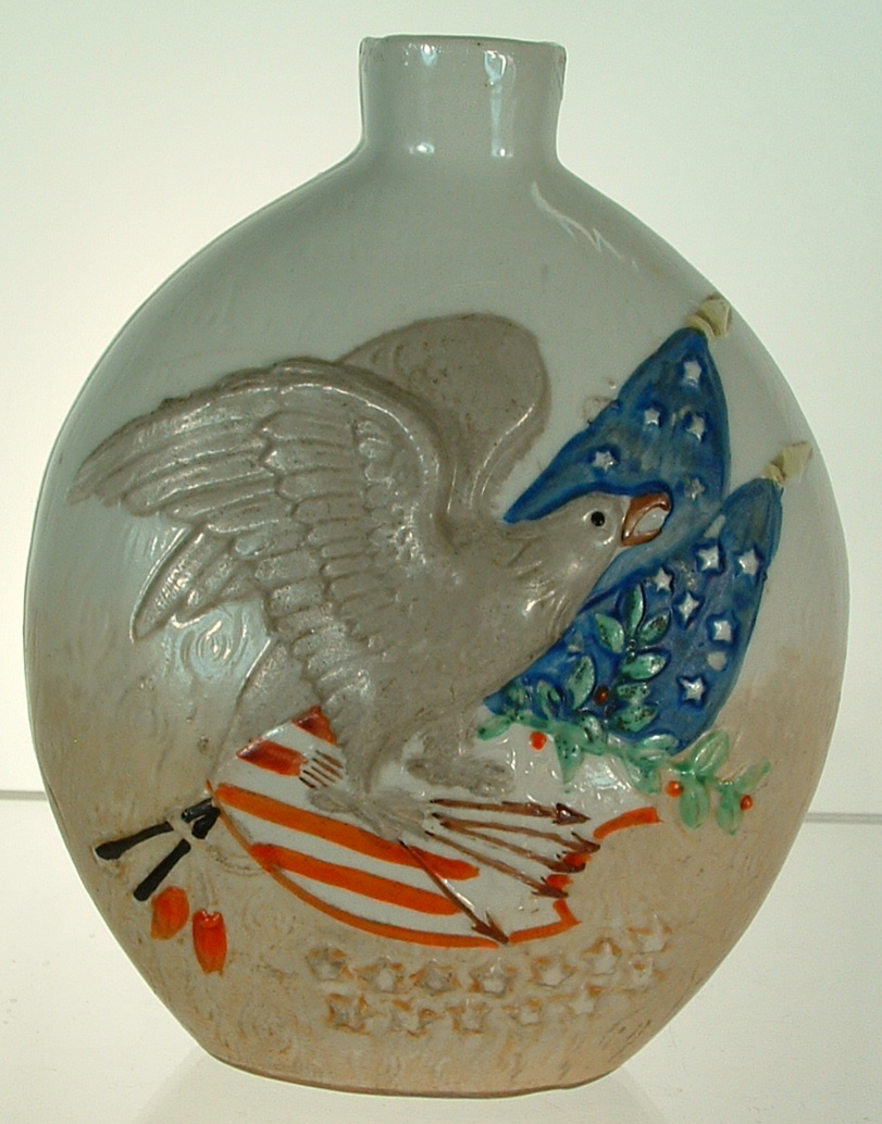 SCHAFER VATER GERMAN PORCELAIN FLASK