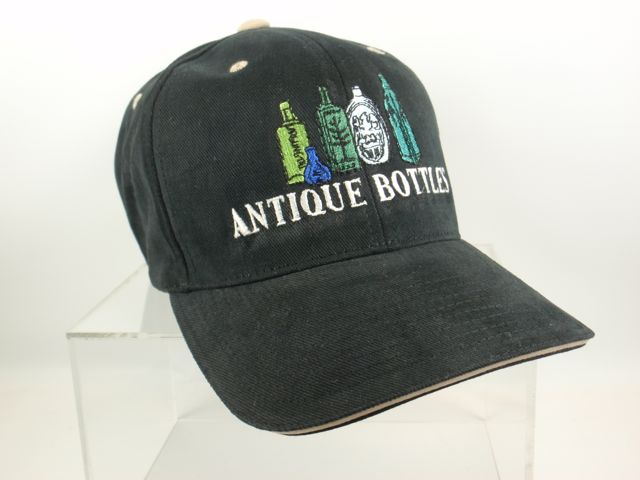EMBROIDERED ANTIQUE BOTTLE HAT - FREE SHIPPING