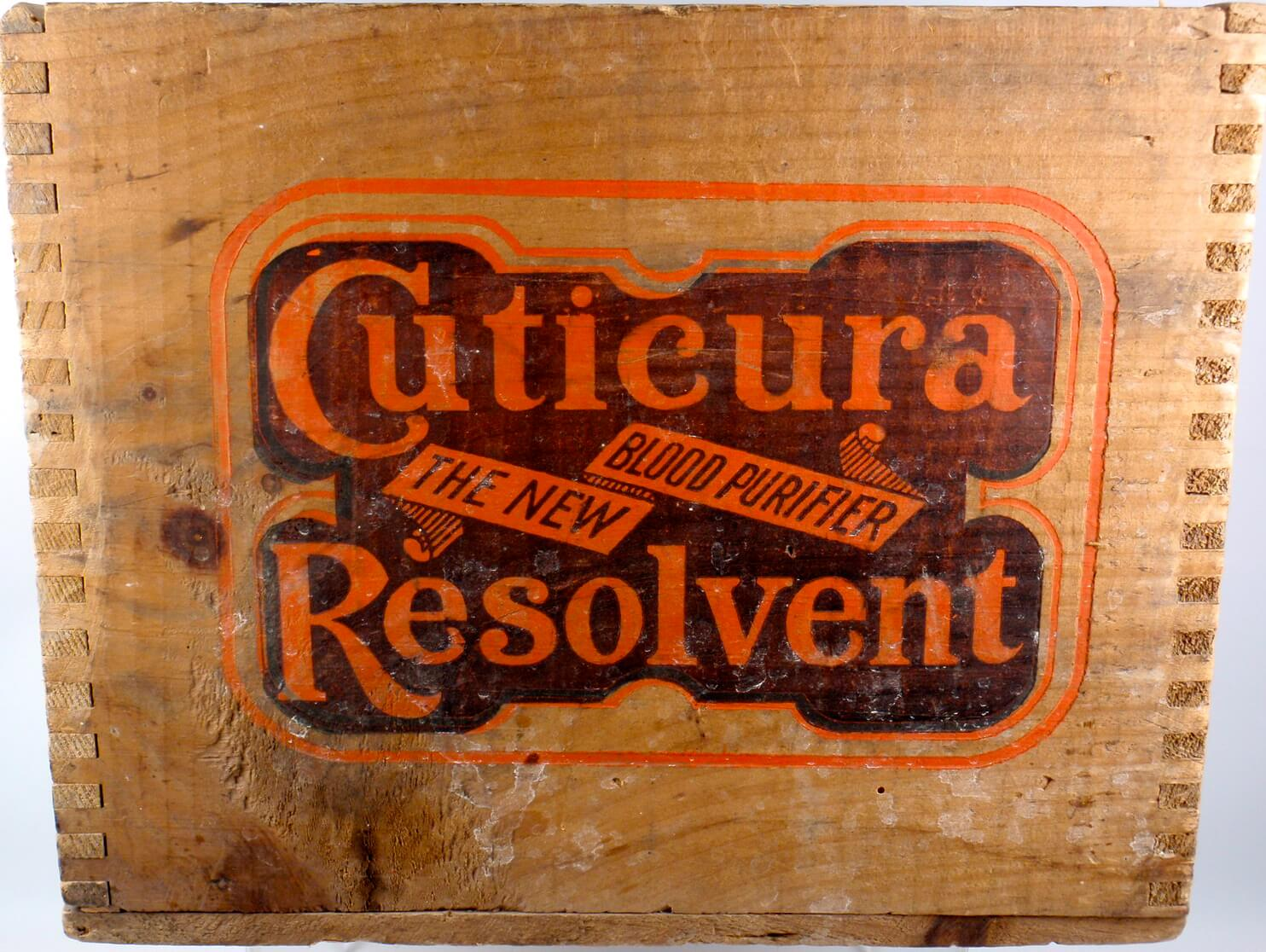CUTICURA RESOLVENT BLOOD PURIFIER SHIPPING CRATE