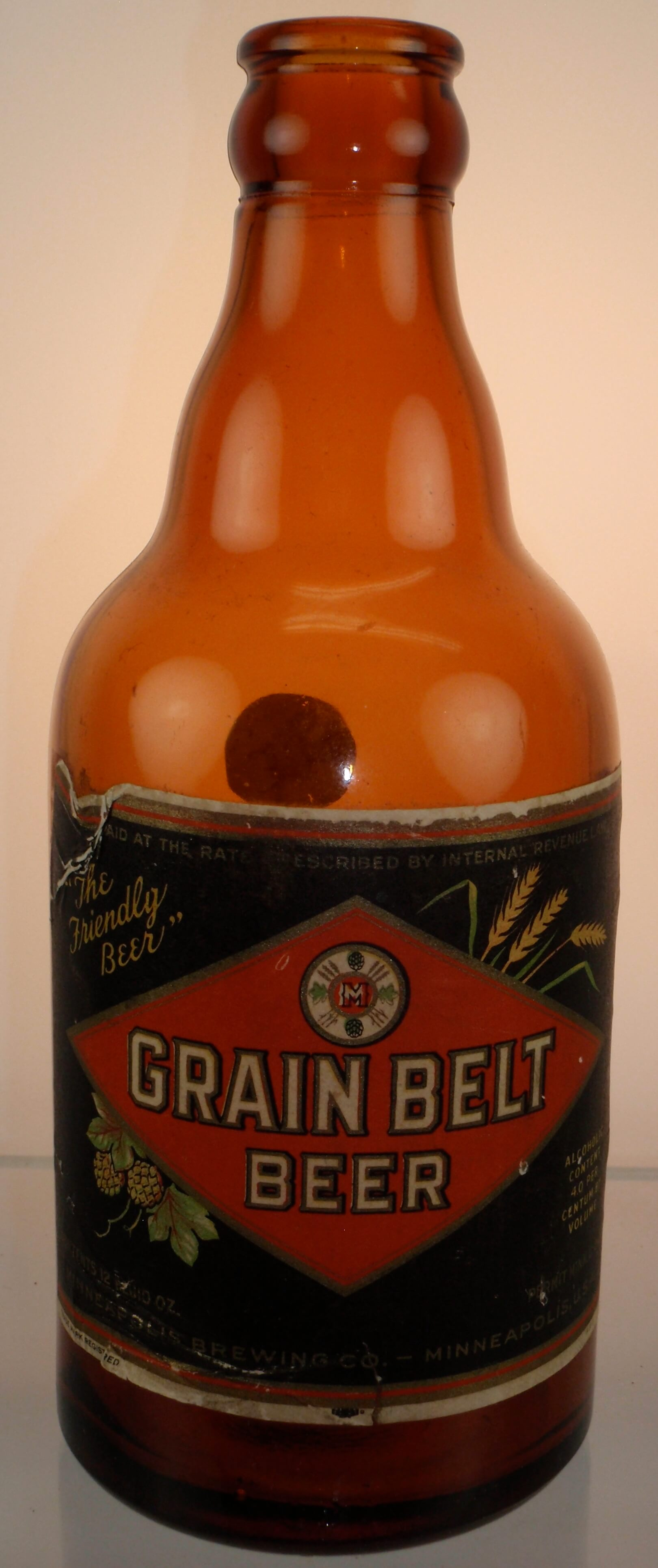 Paper Label Grain Belt Crown Top