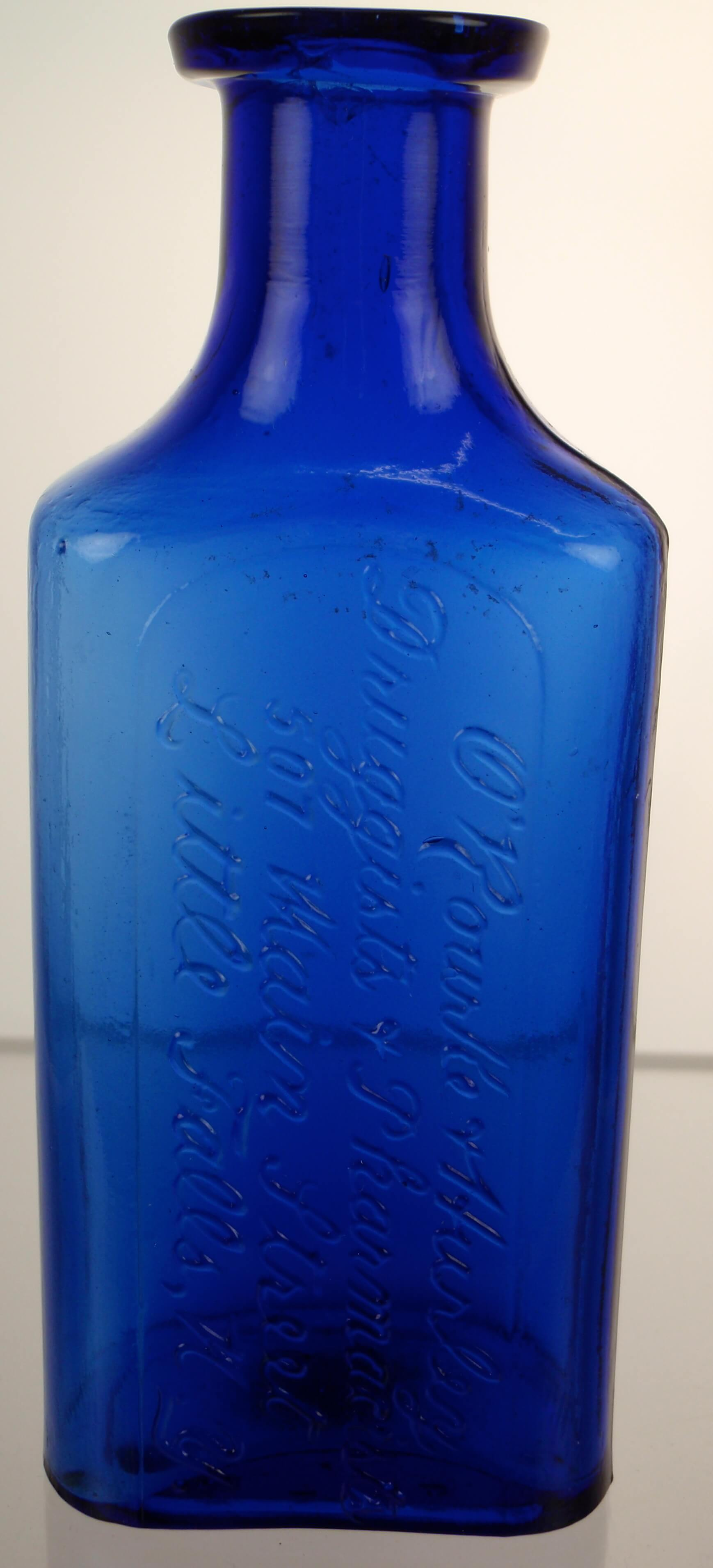 ORourke & Hurley Druggists & Pharmacists Little Falls New York Cobalt Blue Bottle