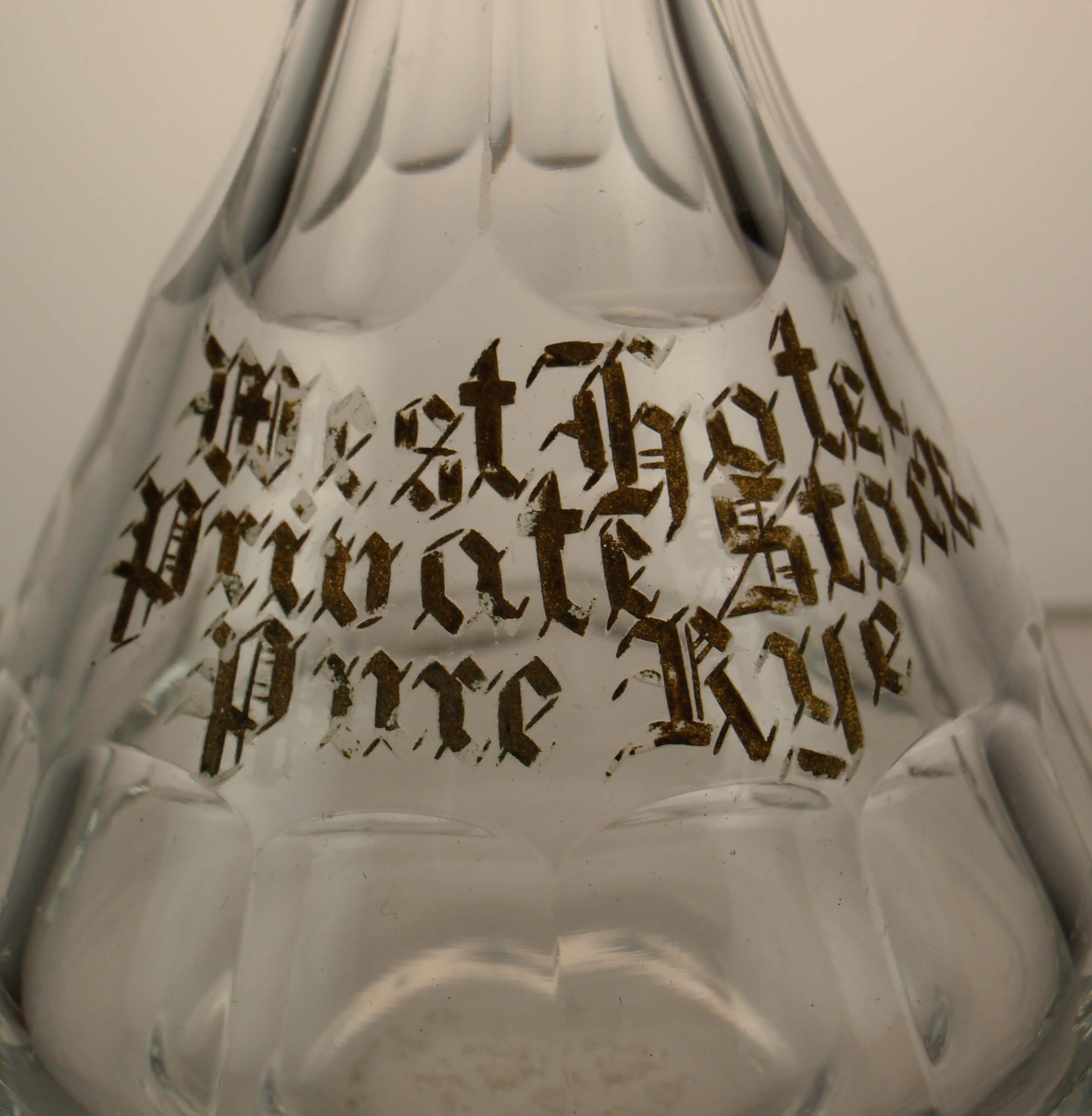 Pre-Prohibition Pure Rye Miniature Back Bar Decanter West Hotel Minneapolis