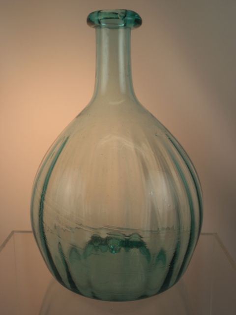 Aqua Pattern Molded Globular Bottle