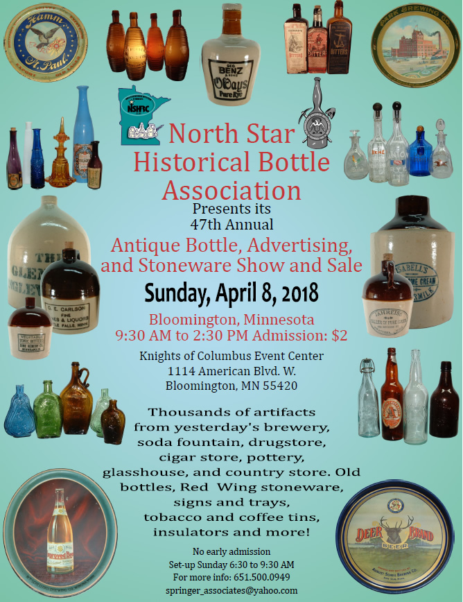 2018 Bottle, Advertising and Stoneware Show and Sale